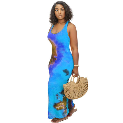 Heysweeta 2020 Printing Women Dress Maxi Dress