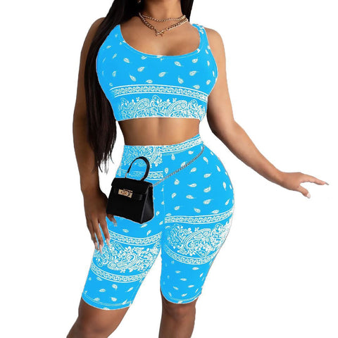 Heysweeta Women Vest and Shorts Two Pieces Outfits