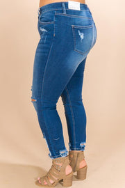 Heysweeta Winter Park Distressed Skinny in Dark Wash