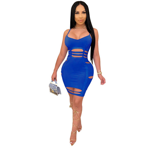 Heysweeta  Hollow Out Mini Dress Women Dress Mini Dress