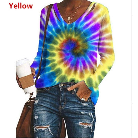 Heysweeta 2020 Long Sleeves Women Tops Autumn Tops Printing Tops