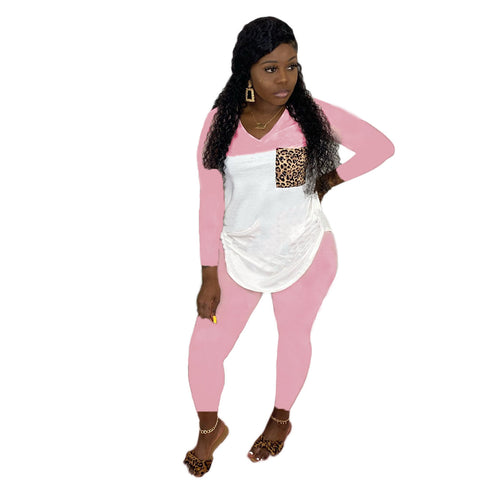 Heysweeta At-home Outits women T-shirt and Women Pants Two Pieces Outifts