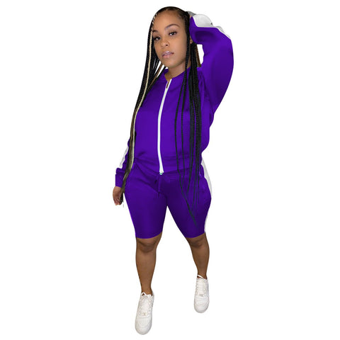 Heysweeta Women sweatsuit US Women Sports Shorts Set