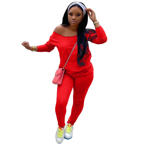 Heysweeta Women Hoodie and Sweat Pants Two Pieces Autum Winter Outfit