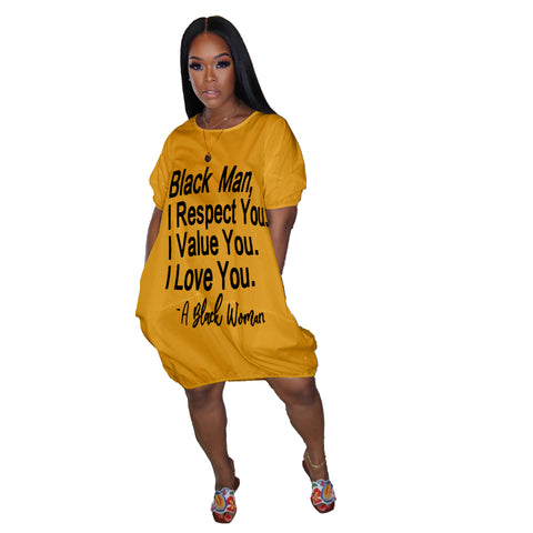 Heysweeta women Dress Black Lives Matter Casual Dress Mini Dress