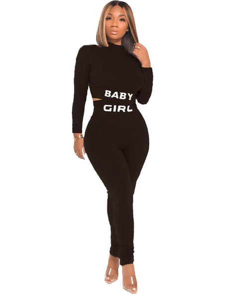Heysweeta Women Crop Tops and Women Pants Two Pieces Outfits