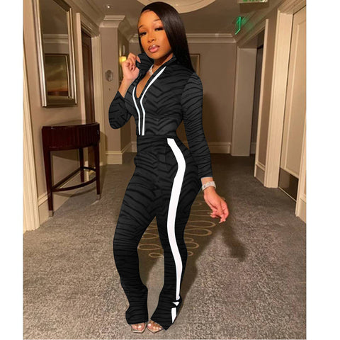 Heysweeta 2020 Women Outfits US Women Sweatsuit Two Pieces Outfit