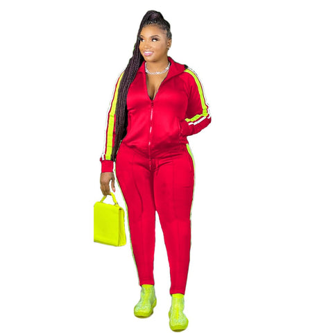 Heysweeta 2020 Autumn Women Tops and Sweat Pants Two Pieces Sweatsuit US Women Outfit