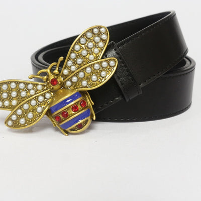 Heysweeta Lady Pearl Leather Belt (Limited sale ended.)