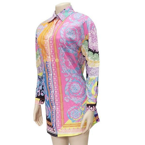 Fashion Print Shirt Dress