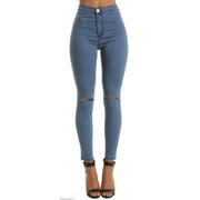 Heysweeta Ripped Holes Women Jeans
