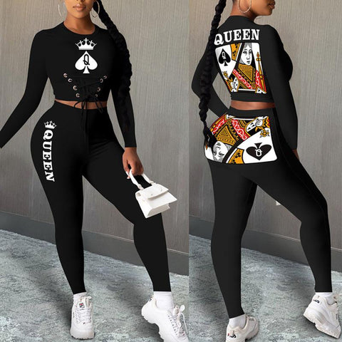 Heysweeta Women Crop Tops and Sweat Pants Two Pieces Outfits