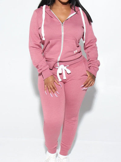 Heysweeta 2020 Winter women Hoodies and String Pants Two PIeces Outfits(🔥35% OFF now!!)