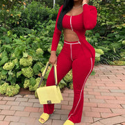 Heysweeta 2020 Autumn Outfits Women Outfits Crop Tops and Women Pants Outfits