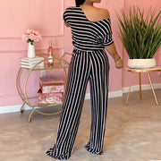Heysweeta Striped Jumpsuit One PIece Jumpsuit