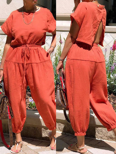 Heysweeta 2020 Fashion Backless One Piece Jumpsuit Women Jumpsuit