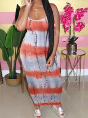 Heysweeta Striped Womone Dress Maxi Dress Casual Dress