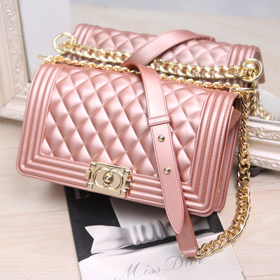 Heysweeta Candy Color Women Bag Jelly Bag Jelly Handbag Women Handbag
