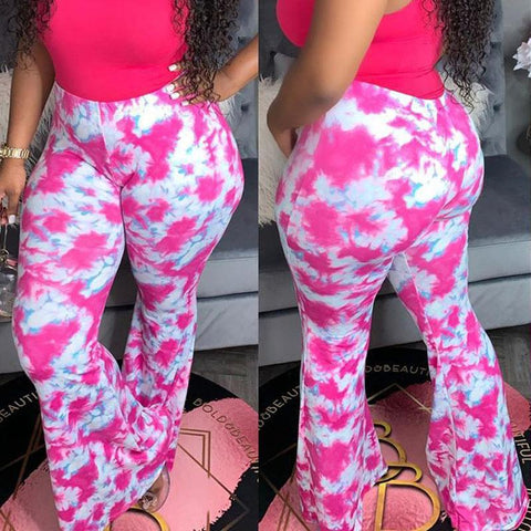 Heysweeta Printing women Pants Yoga Pants Wide Leg Pants US Women Pants Sweat Pants