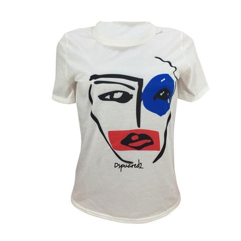 Sketch Face Print T-shirt