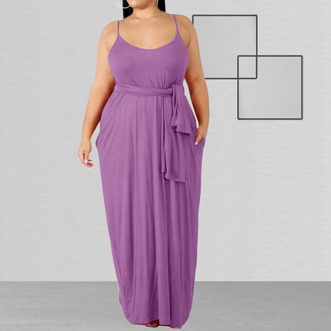 Heysweeta Maxi Drss Women Strap Dress Plus Size Dress Maxi Dress