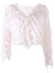 Sale of Artificial Fluffy Women Open Front Jacket Short Coat