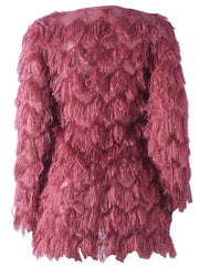 Open Front Women's Plush Sweater Coat