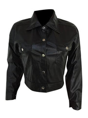 Women PU Short Jacket