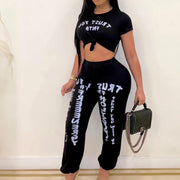 Heysweeta  Crop tops and Puff Pants Two Pieces Outfits