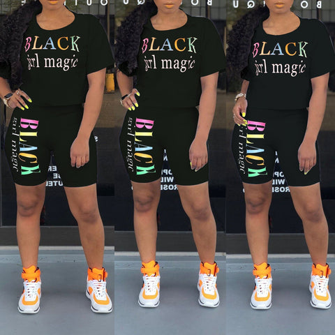 Heysweeta Letters Print Women Shorts Set
