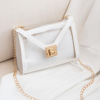 Heysweeta  Women Handbag Transparent Handbag Women Purse
