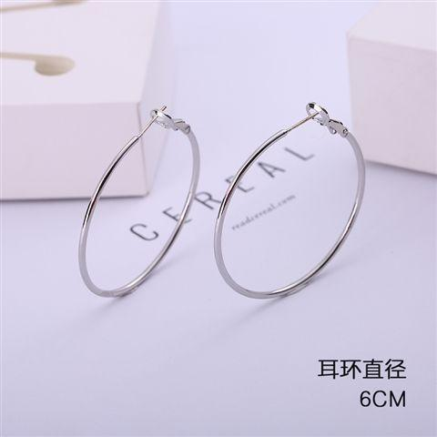 Heysweeta S925 Pure Silver Hoop Earrings Women Earrings