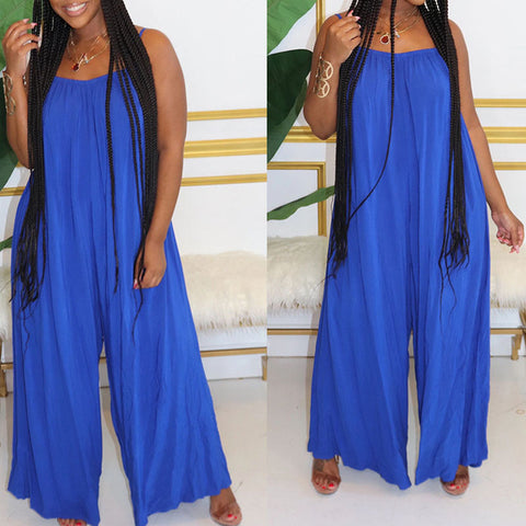 Heysweeta Women Summer Jumpsuit Casual Jumpsuit Loose Jumpsuit