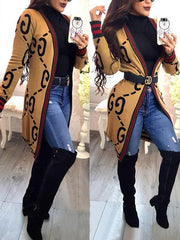 Open Front Yellow Cardigan