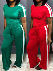 Wide Legs Two Pieces Sweatsuit