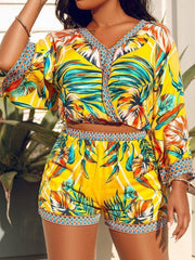 Print Two Pieces Shorts Set