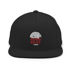 Anxiety Embroidered Snapback Hat