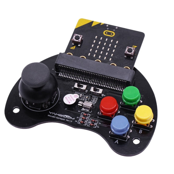 For Micro:Bit Robot Control Handle Game Joystick Stem Education Graphic Programmable Handle Game Machine Toy(Without Micro:Bit)