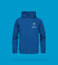 Laden Sie das Bild in den Galerie-Viewer, Hoodie Unisex in Blau Prerow