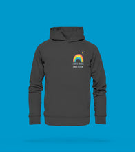 Laden Sie das Bild in den Galerie-Viewer, Hoodie Unisex in Anthrazit/Grau Prerow mit Regenbogen Motiv