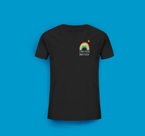 Kinder T-Shirt in Schwarz Prerow Regenbogen Motiv