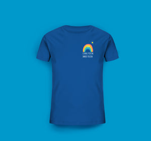 Kinder T-Shirt in Blau Prerow Regenbogen Motiv