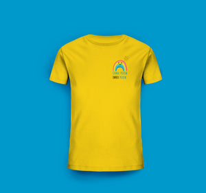 Kinder T-Shirt in Gelb Prerow Regenbogen Motiv