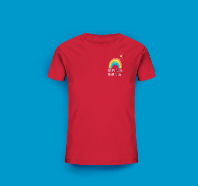 Kinder T-Shirt in Rot Prerow Regenbogen Motiv