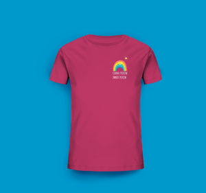 Kinder T-Shirt in Raspberry Pink Prerow Regenbogen Motiv