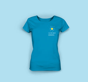 Frauen T-Shirt in Royalblau. Egestorf macht Heidenspass.