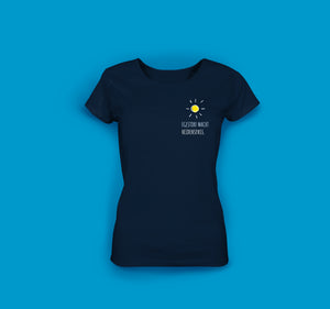 Frauen T-Shirt in Navy. Egestorf macht Heidenspass.
