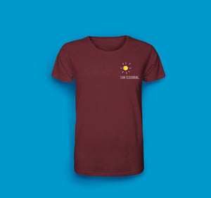 Herren T-Shirt in Burgundrot Team Tecklenburg