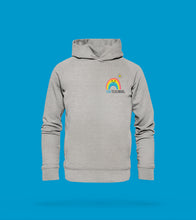 Laden Sie das Bild in den Galerie-Viewer, Hoodie Regenbogen in Hellgrau Team Tecklenburg