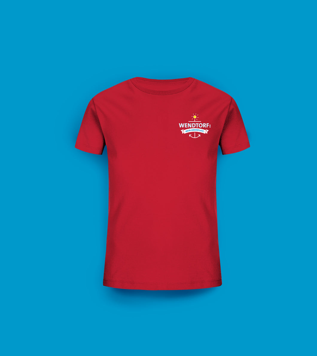 Kinder T-Shirt in Rot Wendtorf: Mein Ankerplatz.